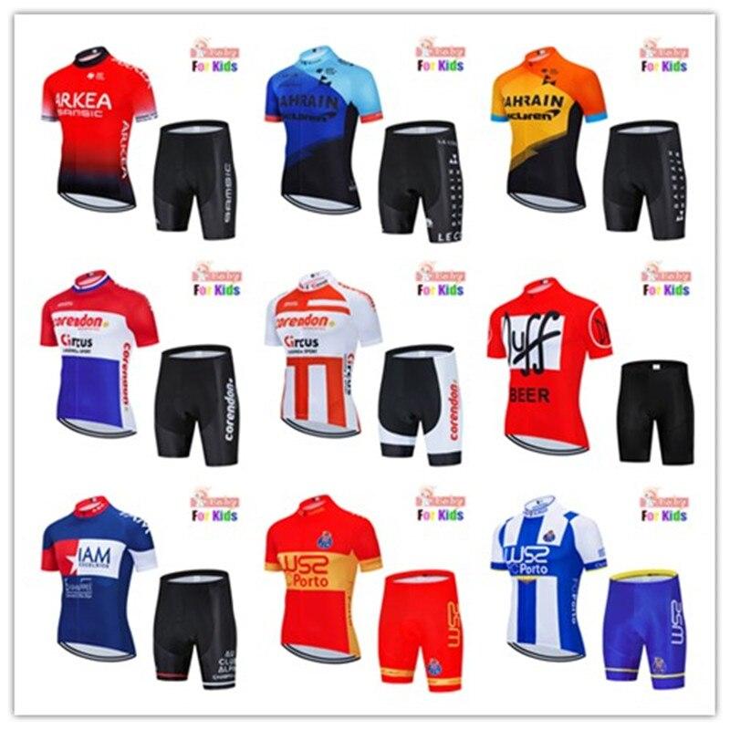 Cycling Jersey Children 2020 Pro Team Boys Mtb Motocross Triathlon Cycling Jersey Suits Kids Bicycle Clothing Bike Cycling Kit